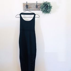 Free People Black Halter Panel Dress M